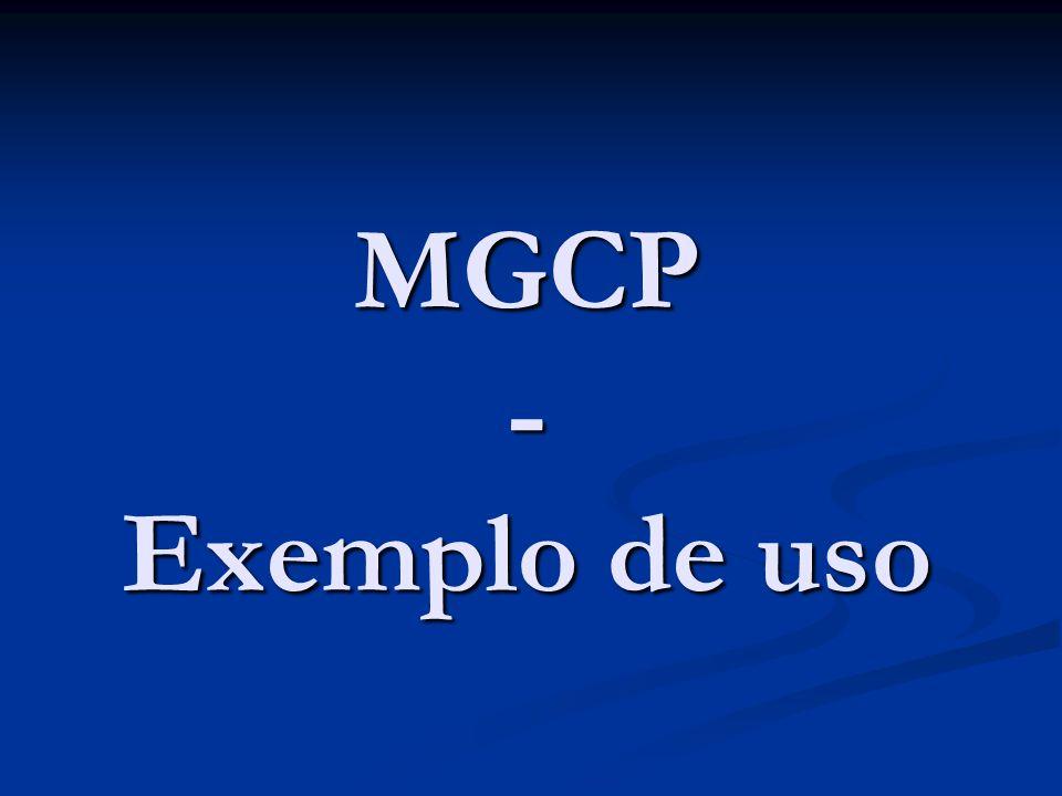 MGCP – Exemplo de uso Exemplo de troca de mensagens entre dois Gateways Residências.