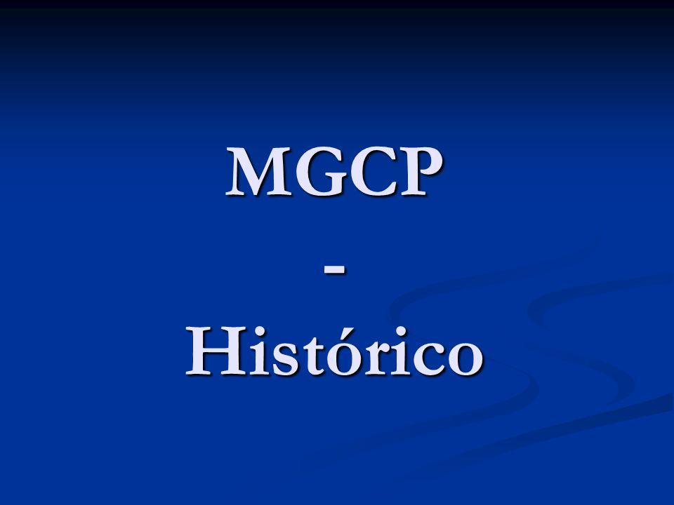 MGCP – Histórico Empresas pegas de surpresa(1998) Empresas pegas de surpresa(1998) H.323v1 não era satisfatório H.323v1 não era satisfatório Desestabilizar o mercado Desestabilizar o mercado SGCP (Simple Gateway Control Protocol) SGCP (Simple Gateway Control Protocol) IPDC IPDC MGCP (outubro 1999 – RFC 2705) MGCP (outubro 1999 – RFC 2705) MGCP (janeiro 2003 – RFC 3435) MGCP (janeiro 2003 – RFC 3435)