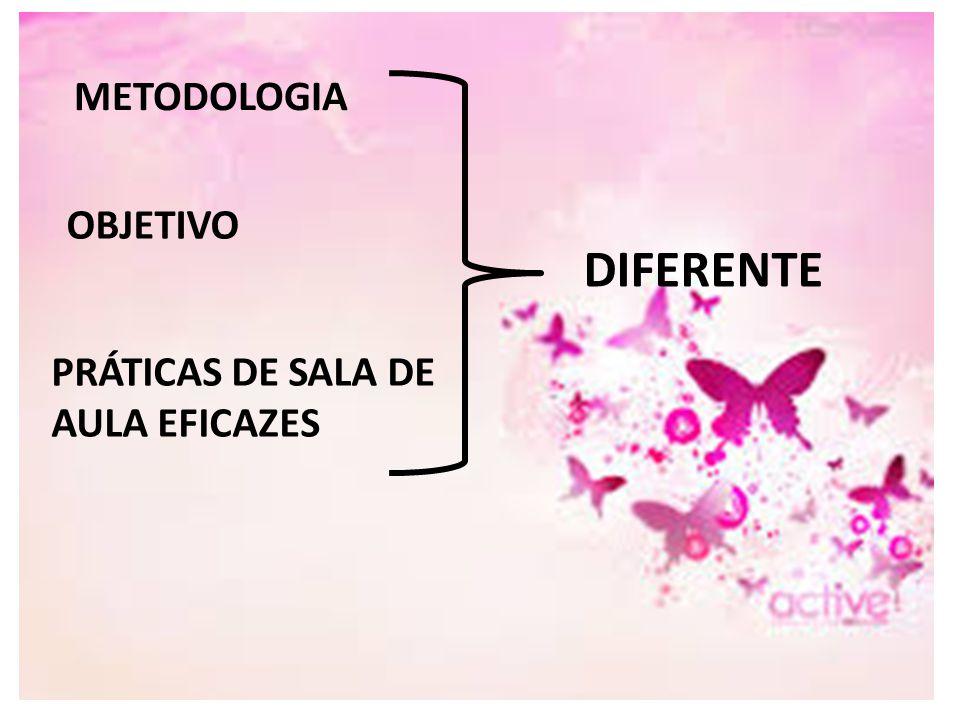 METODOLOGIA OBJETIVO PRÁTICAS DE SALA DE AULA EFICAZES DIFERENTE