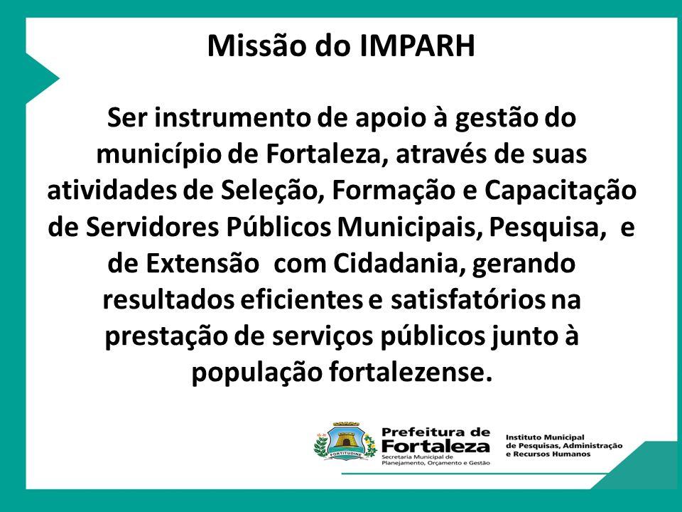 O IMPARH foi criado em 30 de maio de 1974, por meio do Decreto Municipal nº 4.287, o atual órgão surgiu com a denominação de Fundação Educacional de Fortaleza – FUNEFOR, passando depois a se denominar de FUNDESP – Fundação de Desenvolvimento de Pessoal.