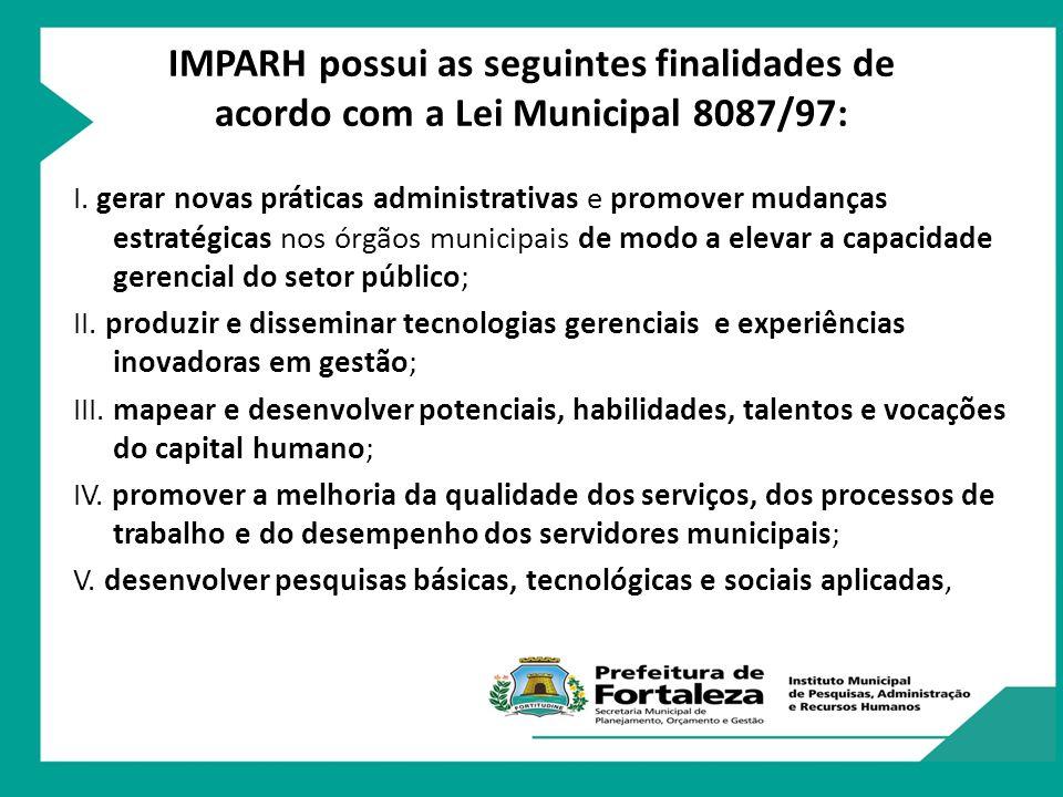 Cursos e Treinamentos Atividades do IMPARH