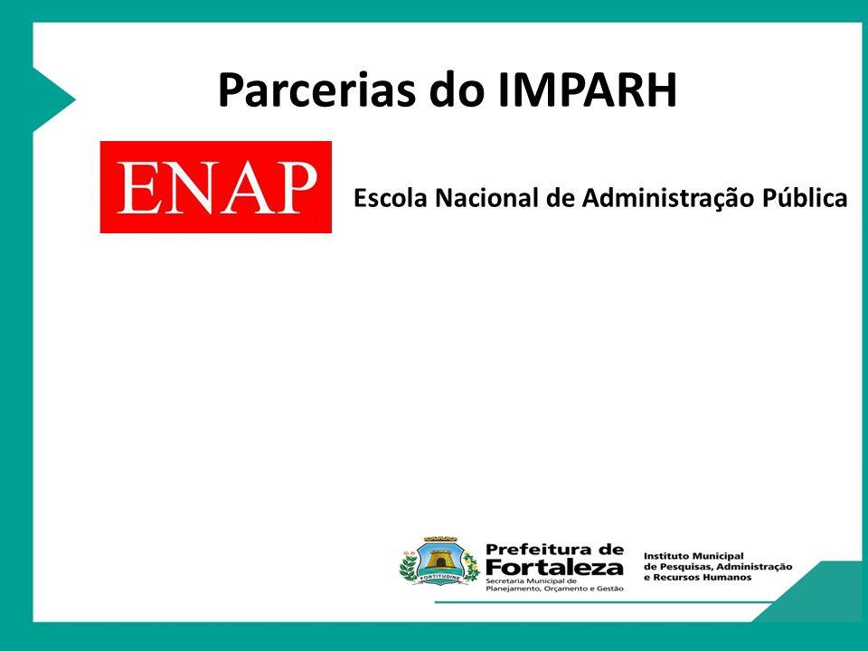 Programa Nacional de Apoio à Gestão Administrativa e Fiscal dos Municípios Brasileiros Parcerias do IMPARH Escola Nacional de Administração Pública