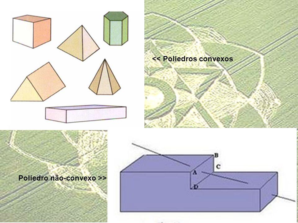 << Poliedros convexos Poliedro não-convexo >>