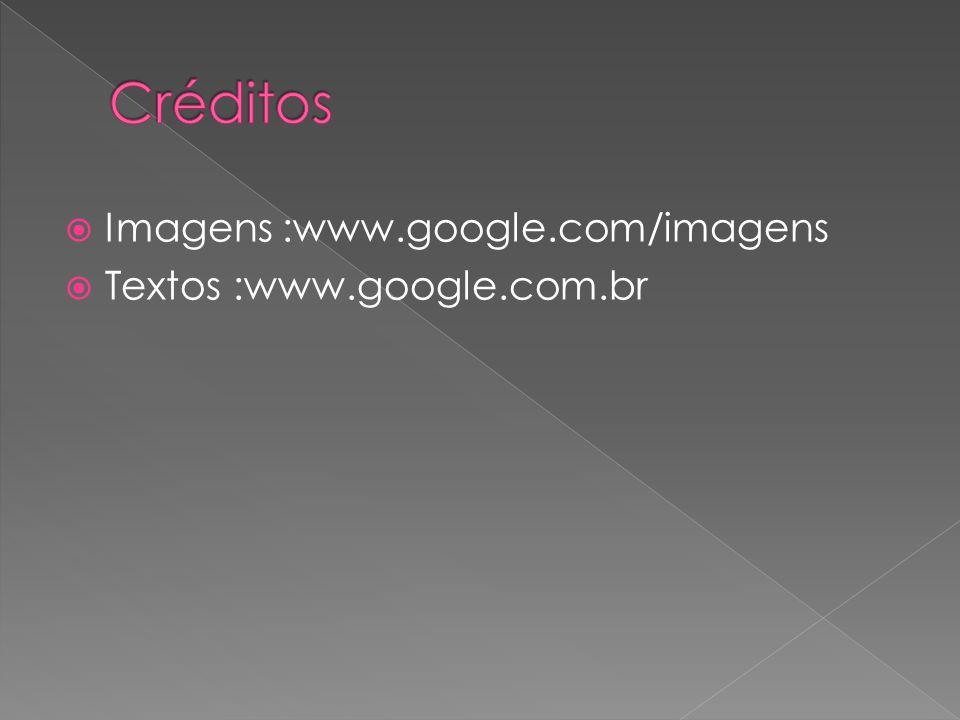  Imagens :www.google.com/imagens  Textos :www.google.com.br