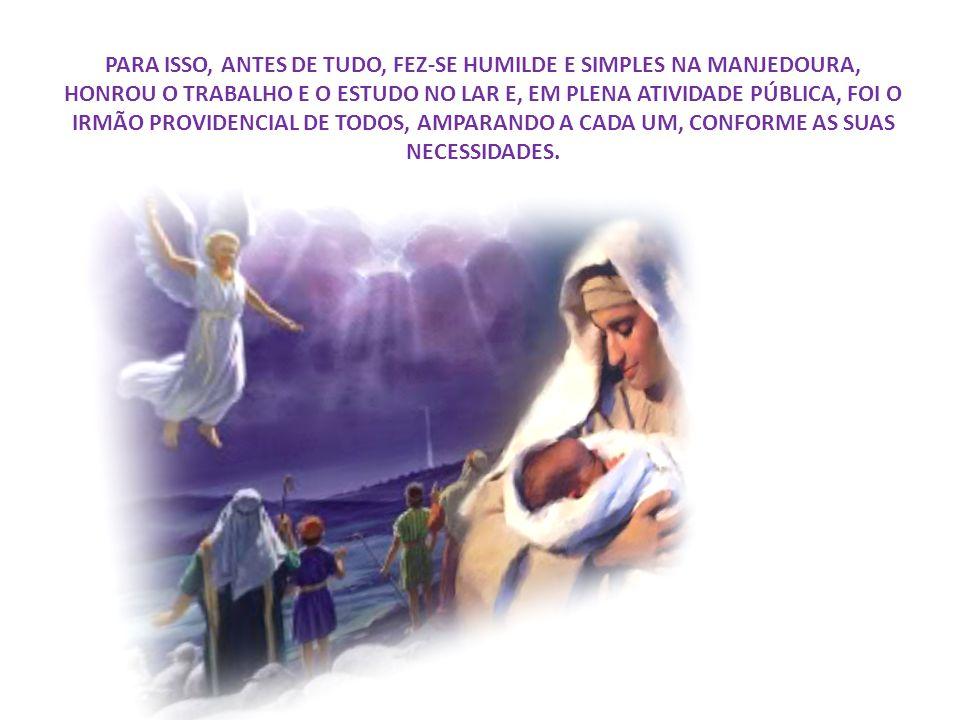 PODERIA O CRISTO HAVER MANDADO A LIÇÃO POR EMISSÁRIOS FIÉIS... PODERIA TER FALADO BRILHANTEMENTE, ESCLARECENDO COMO FAZER... PREFERIU, CONTUDO, PARA E