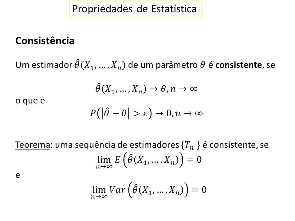 Propriedades de Estatística Consistência