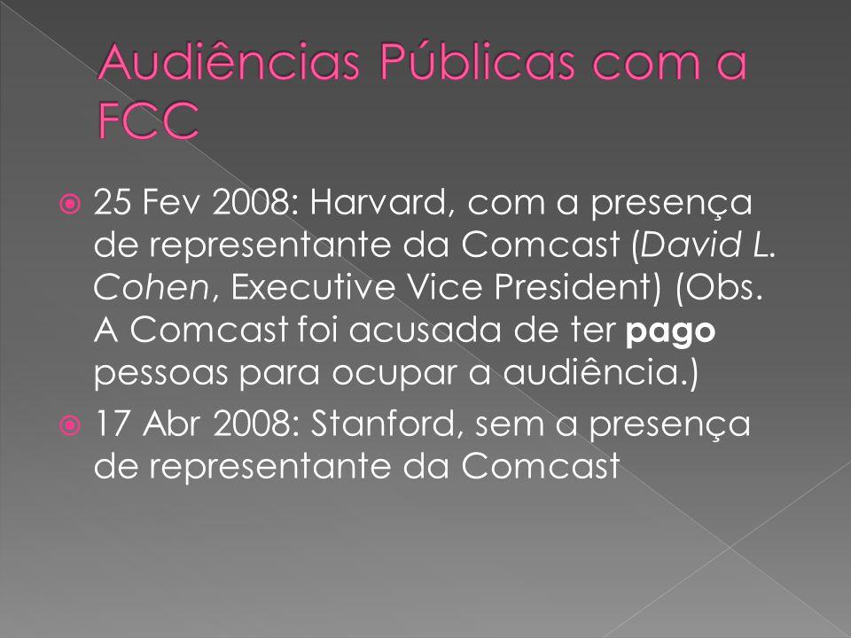  25 Fev 2008: Harvard, com a presença de representante da Comcast (David L.