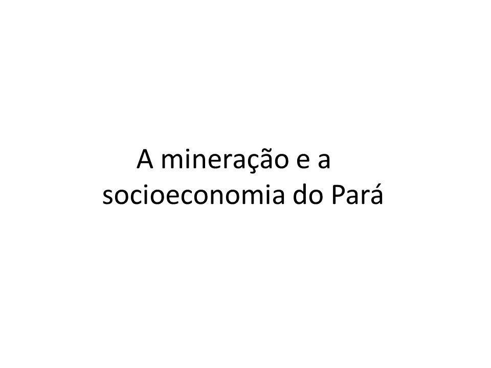 A mineração e a socioeconomia do Pará