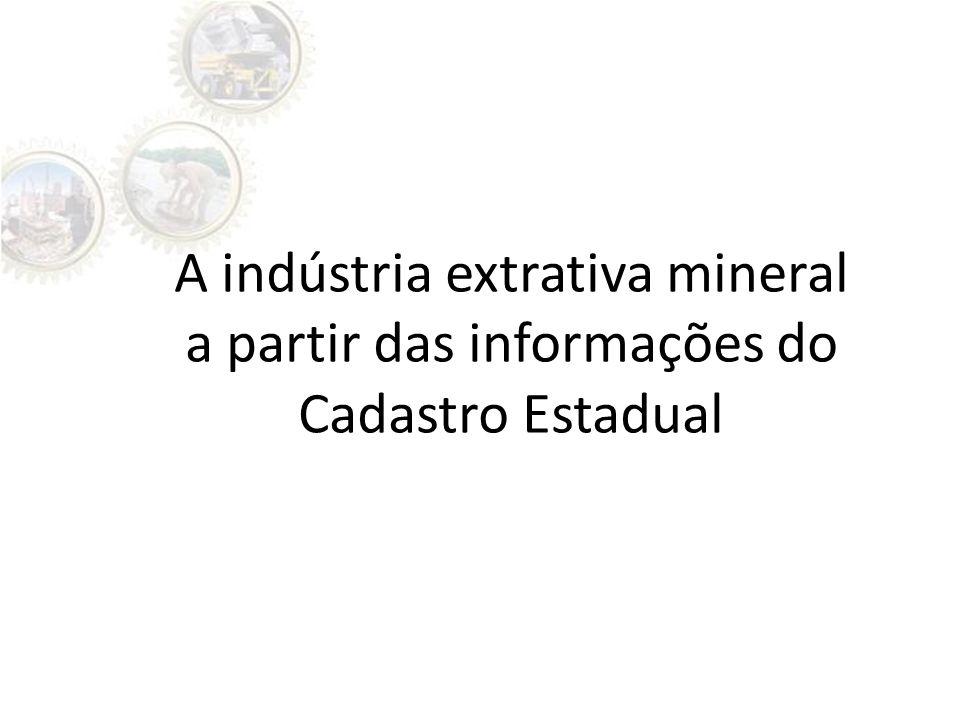 A indústria extrativa mineral a partir das informações do Cadastro Estadual
