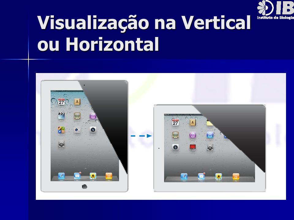 Visualização na Vertical ou Horizontal