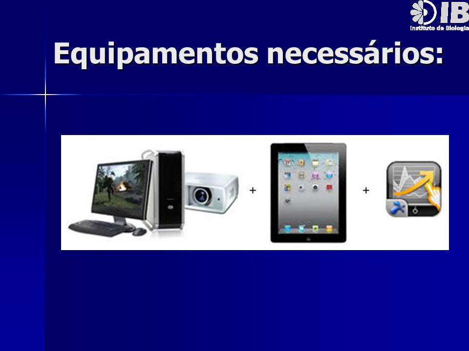 Equipamentos necessários: Equipamentos necessários: