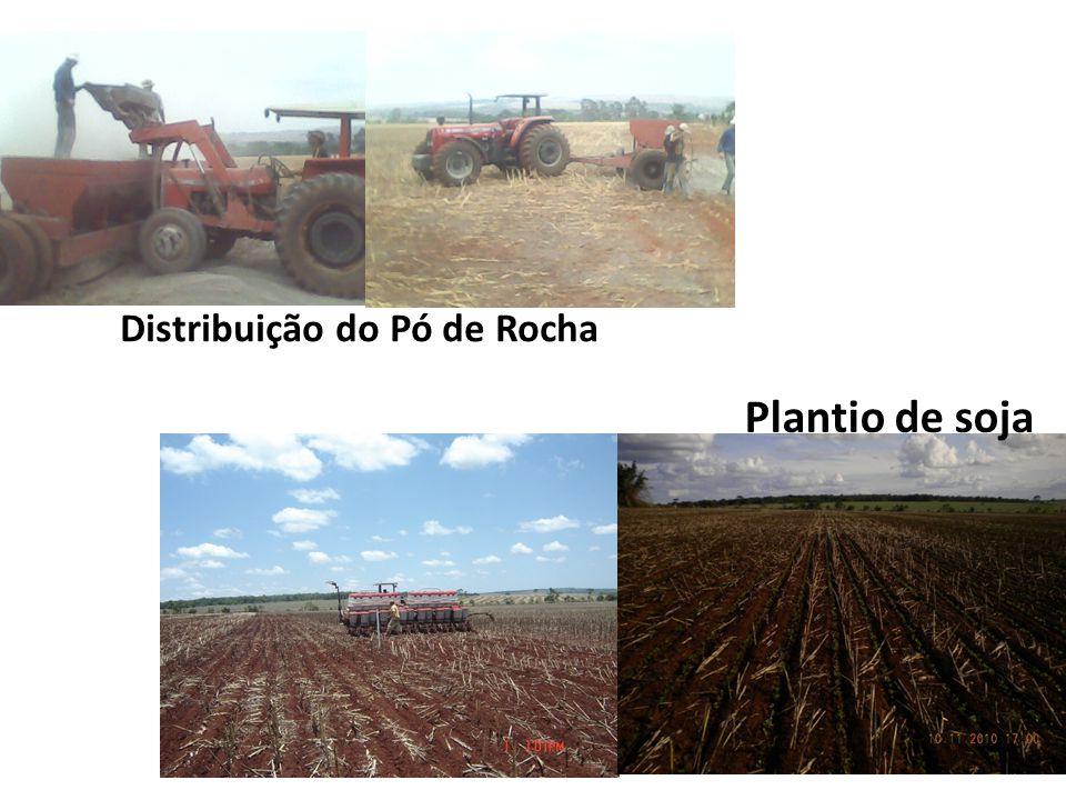 Distribuição do Pó de Rocha Plantio de soja