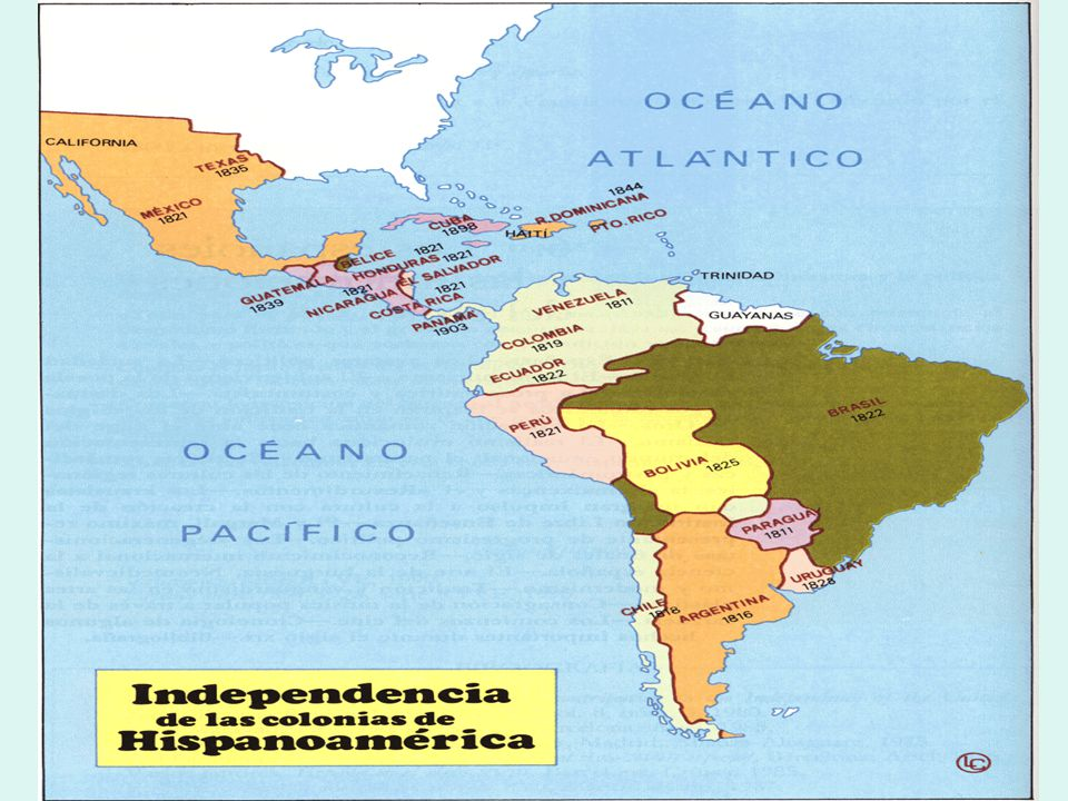 A INDEPENDÊNCIA DA AMÉRICA ESPANHOLA América Espanhola Colonização de exploração 4 vice-reinos: Nova Espanha (México); Nova Granada, Peru e Prata Sistema de Porto Único (regulado pela Casa de Contratação).