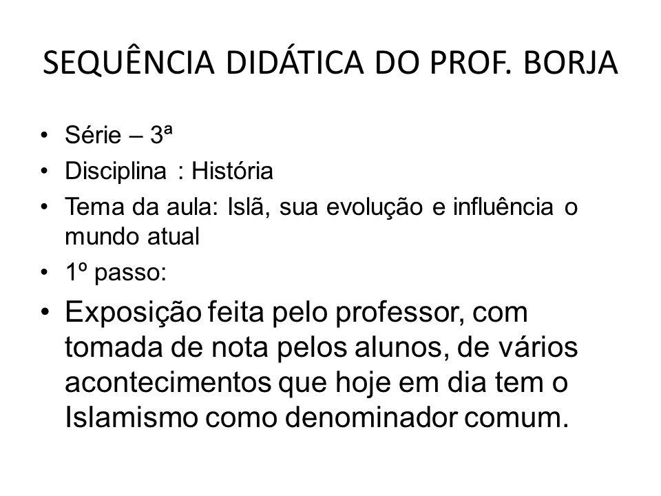 SEQUÊNCIA DIDÁTICA DO PROF.