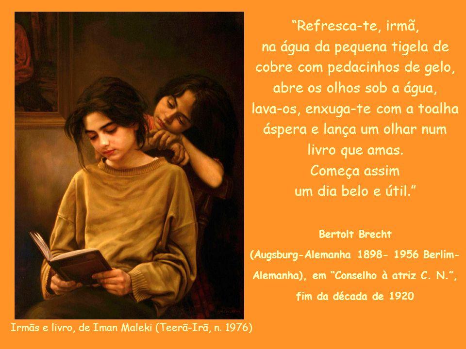 """A leitora, de Jean Honoré Fragonard (Grasse-França 1732-1808 Paris-França), em 1870-72 """"Louvai ao Senhor, livro, meu irmão, com vossas letras e palavr"""