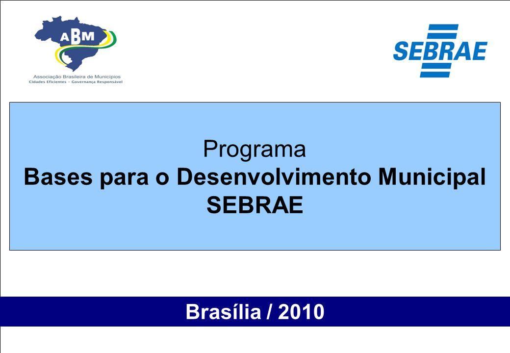 """4º Seminário Nacional de Gestão Pública Salvador 27 maio 2009 """"Programa - Bases para o Desenvolvimento Municipal"""" Brasília / 2010 Programa Bases para"""