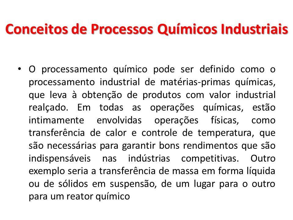 O processamento químico pode ser definido como o processamento industrial de matérias-primas químicas, que leva à obtenção de produtos com valor indus