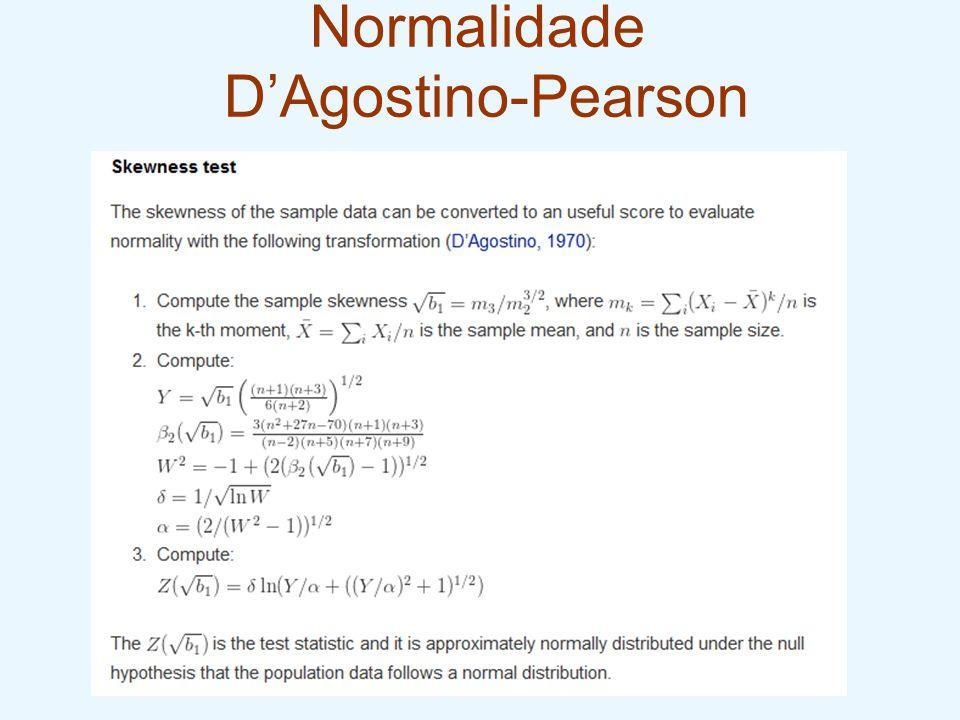 Normalidade D'Agostino-Pearson