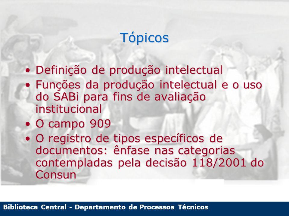 Biblioteca Central - Departamento de Processos Técnicos Nome abreviado e nome completo: são a mesma pessoa.