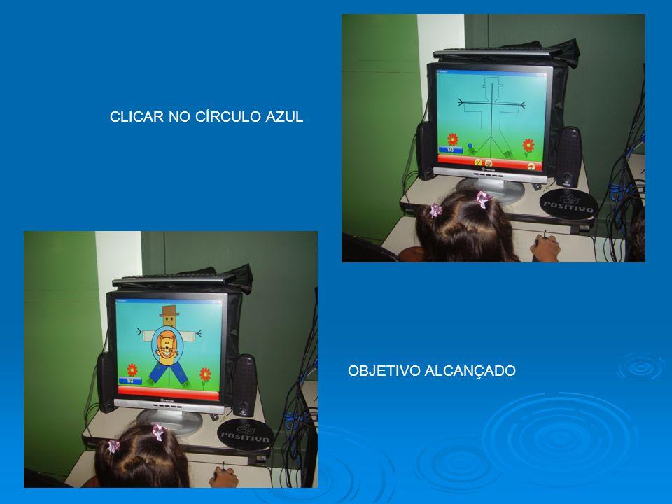 CLICAR NO CÍRCULO AZUL OBJETIVO ALCANÇADO