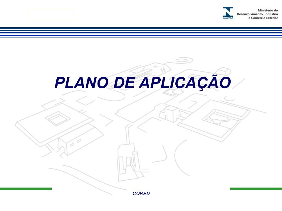 Marca do evento CORED PLANO DE APLICAÇÃO