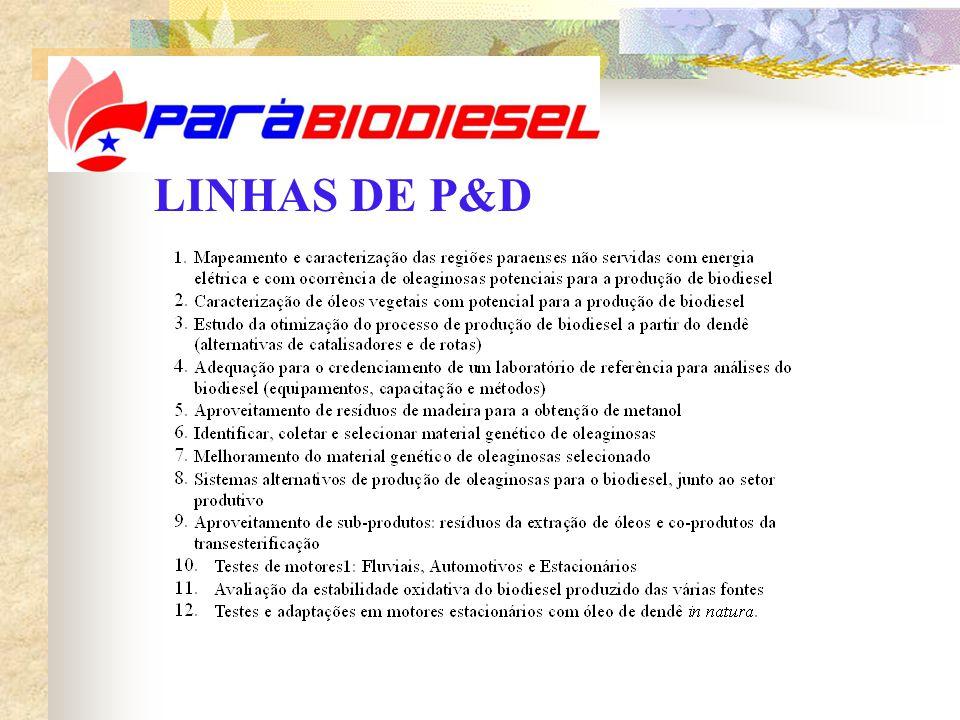 LINHAS DE P&D