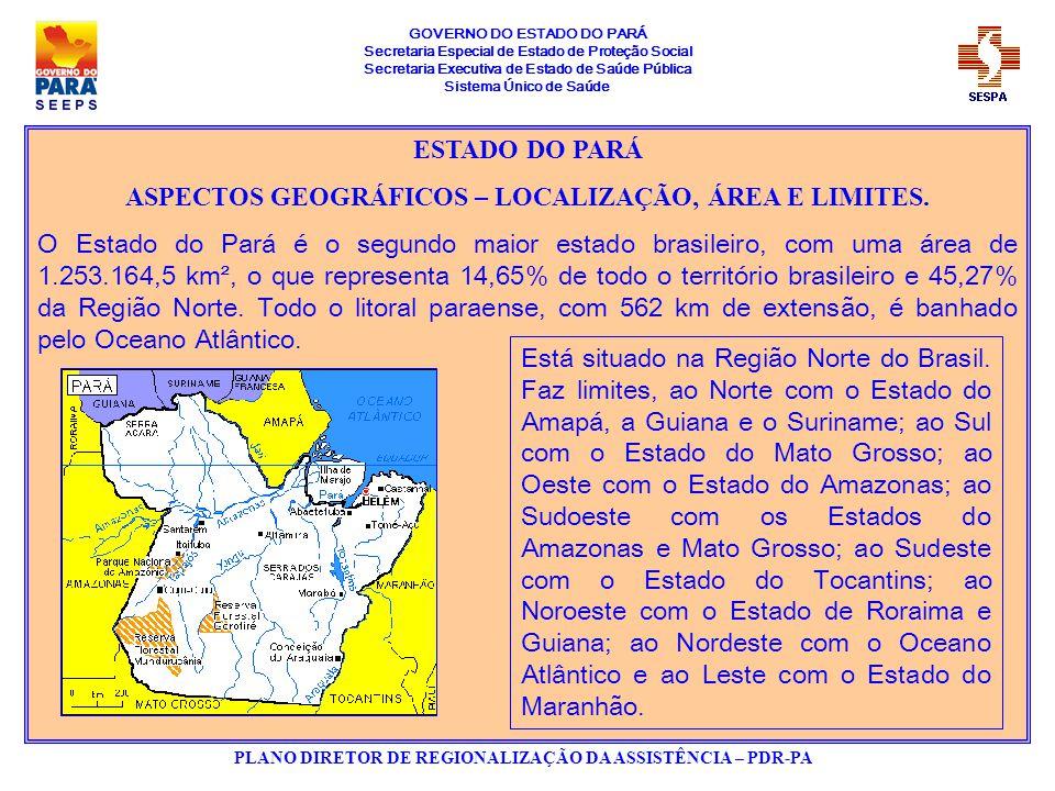 GOVERNO DO ESTADO DO PARÁ Secretaria Especial de Estado de Proteção Social Secretaria Executiva de Estado de Saúde Pública Sistema Único de Saúde PLANO DIRETOR DE REGIONALIZAÇÃO DA ASSISTÊNCIA – PDR-PA MESORREGIÕES DO ESTADO DO PARÁ SITUAÇÃO DE HABILITAÇÃO DOS MUNICÍPIOS 44 – GESTÃO PLENA DO SISTEMA 98 – GESTÃO PLENA DA ATENÇÃO BÁSICA 01 – NÃO HABILITADO
