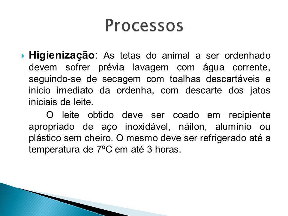  Higienização: As tetas do animal a ser ordenhado devem sofrer prévia lavagem com água corrente, seguindo-se de secagem com toalhas descartáveis e in