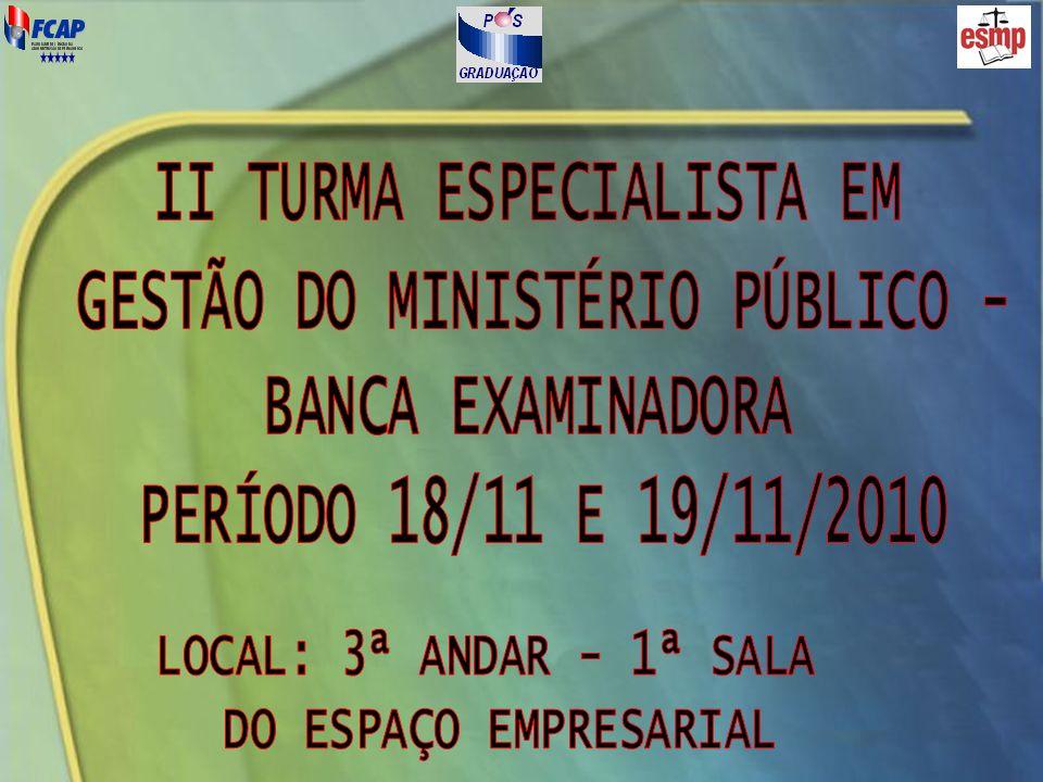 DATA / HORÁRIOALUNOSTEMA DA DEFESA 18/11, às 8h30Carlos Antonio Gadelha de A.