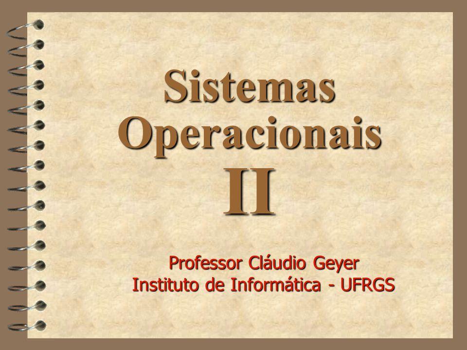 Sistemas Operacionais II Professor Cláudio Geyer Instituto de Informática - UFRGS