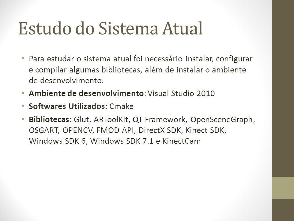 Estudo do Sistema Atual Para estudar o sistema atual foi necessário instalar, configurar e compilar algumas bibliotecas, além de instalar o ambiente de desenvolvimento.