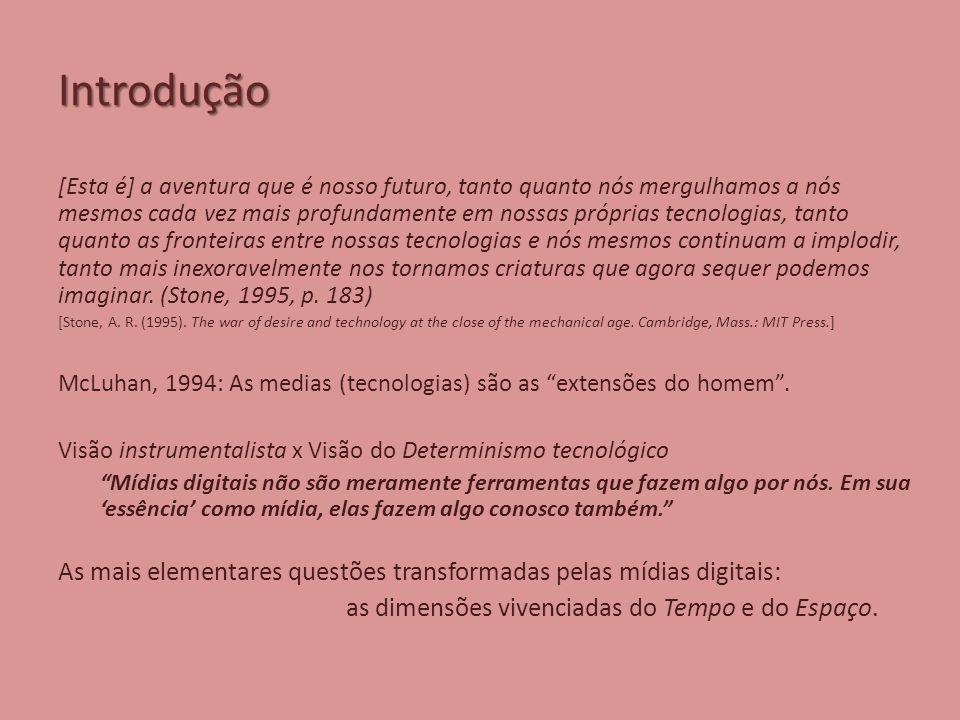 Introdução [Esta é] a aventura que é nosso futuro, tanto quanto nós mergulhamos a nós mesmos cada vez mais profundamente em nossas próprias tecnologias, tanto quanto as fronteiras entre nossas tecnologias e nós mesmos continuam a implodir, tanto mais inexoravelmente nos tornamos criaturas que agora sequer podemos imaginar.