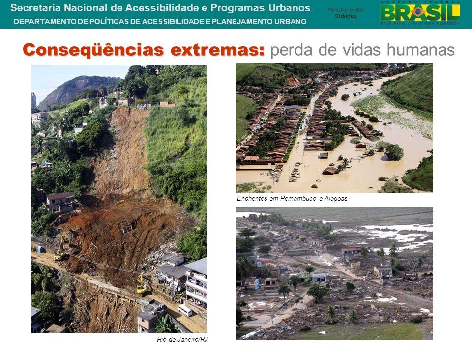 DEPARTAMENTO DE POLÍTICAS DE ACESSIBILIDADE E PLANEJAMENTO URBANO Secretaria Nacional de Acessibilidade e Programas Urbanos Rio de Janeiro/RJ Enchente