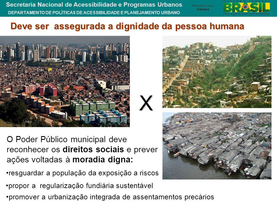 DEPARTAMENTO DE POLÍTICAS DE ACESSIBILIDADE E PLANEJAMENTO URBANO Secretaria Nacional de Acessibilidade e Programas Urbanos X O Poder Público municipa
