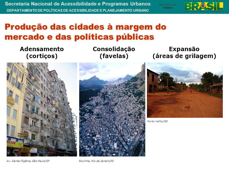 DEPARTAMENTO DE POLÍTICAS DE ACESSIBILIDADE E PLANEJAMENTO URBANO Secretaria Nacional de Acessibilidade e Programas Urbanos Produção das cidades à mar