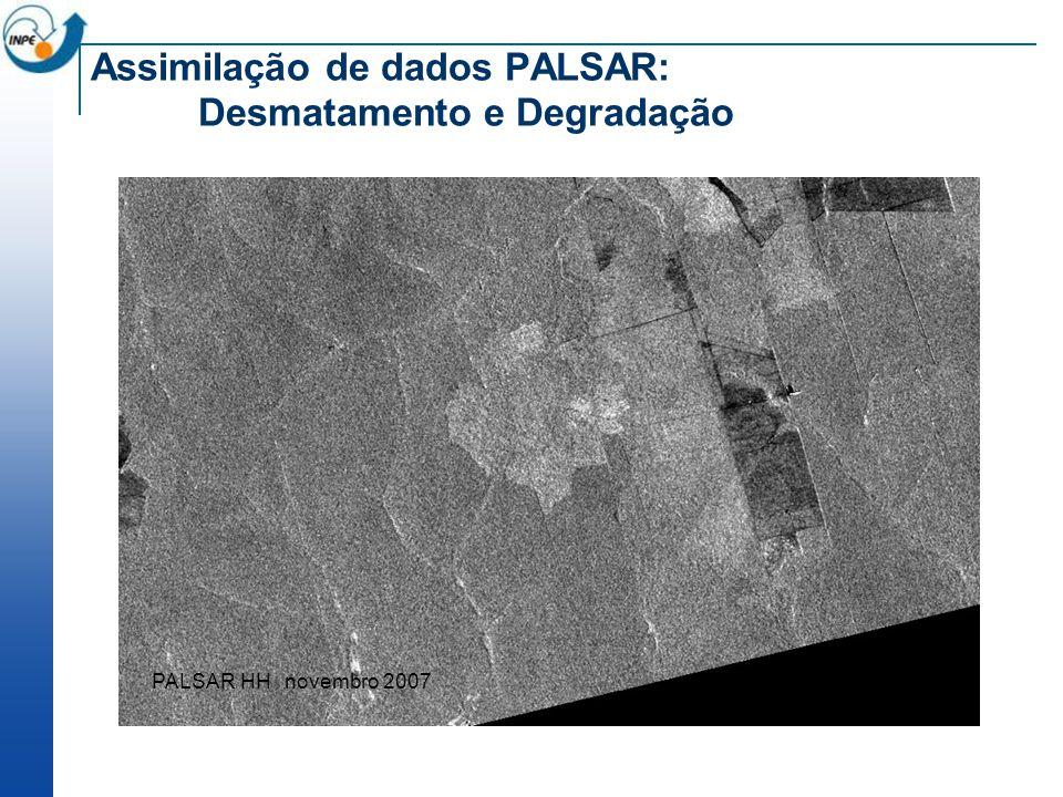 Assimilação de dados PALSAR: Desmatamento e Degradação PALSAR HH novembro 2007