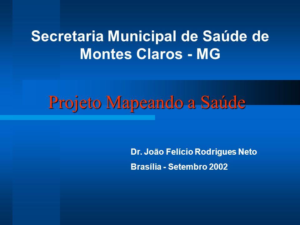 Projeto Mapeando a Saúde Secretaria Municipal de Saúde de Montes Claros - MG Dr. João Felício Rodrigues Neto Brasília - Setembro 2002