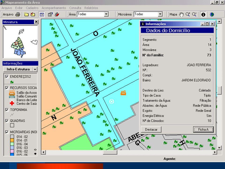 Recursos necessários Microcomputador Aplicativo específico ( Inform Atenção Básica ) ou outro software (ArcView ) com recursos de sistemas de informação geográfica Treinamento em banco de dados e sistemas de informação geográfica Consultoria