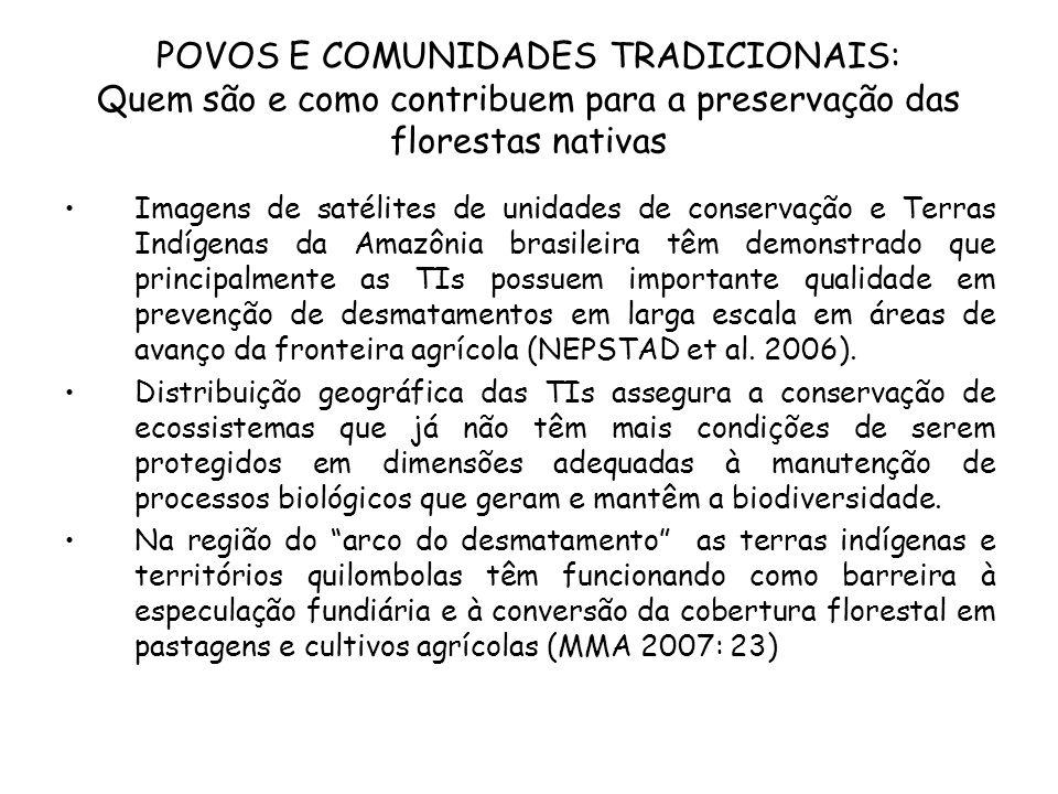 POVOS E COMUNIDADES TRADICIONAIS: Quem são e como contribuem para a preservação das florestas nativas Imagens de satélites de unidades de conservação