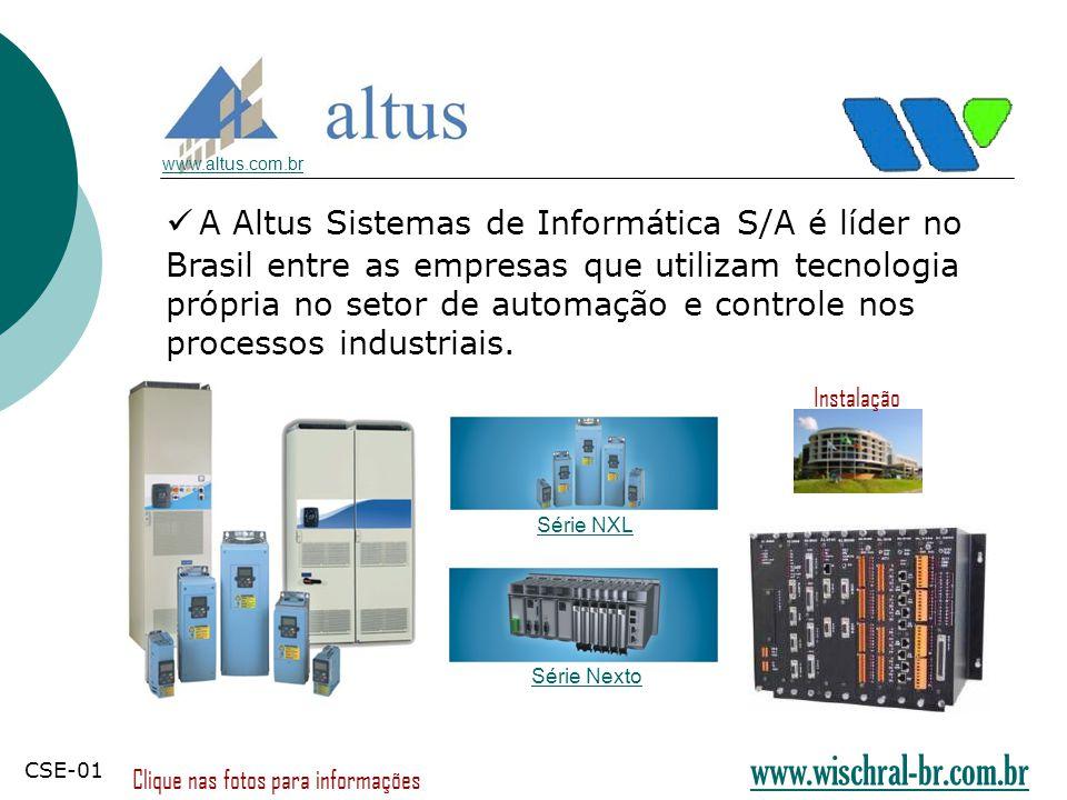 A Altus Sistemas de Informática S/A é líder no Brasil entre as empresas que utilizam tecnologia própria no setor de automação e controle nos processos