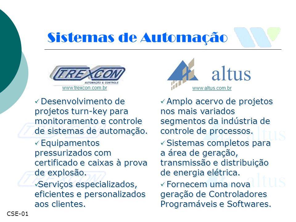 Sistemas de Automação Desenvolvimento de projetos turn-key para monitoramento e controle de sistemas de automação. Equipamentos pressurizados com cert