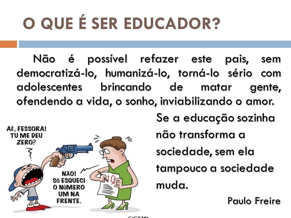 O QUE É SER EDUCADOR.