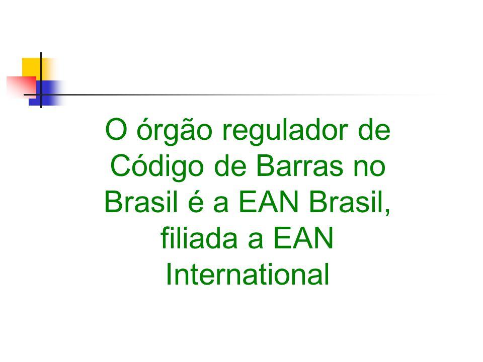 O órgão regulador de Código de Barras no Brasil é a EAN Brasil, filiada a EAN International