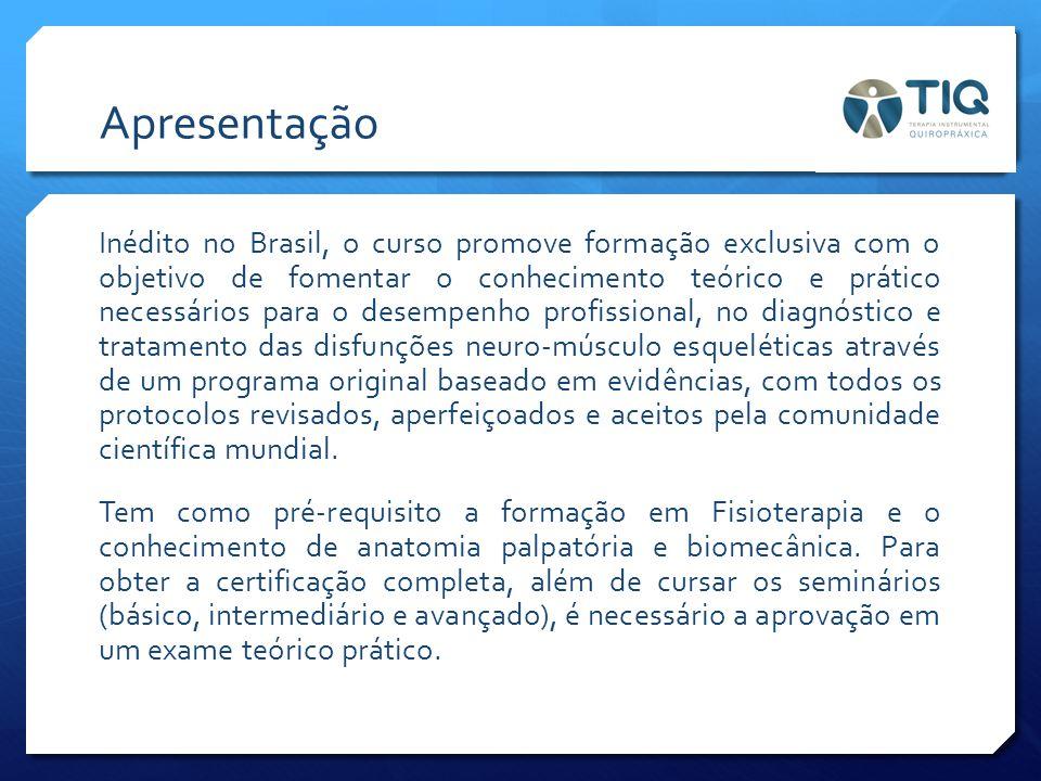 Apresentação Inédito no Brasil, o curso promove formação exclusiva com o objetivo de fomentar o conhecimento teórico e prático necessários para o dese