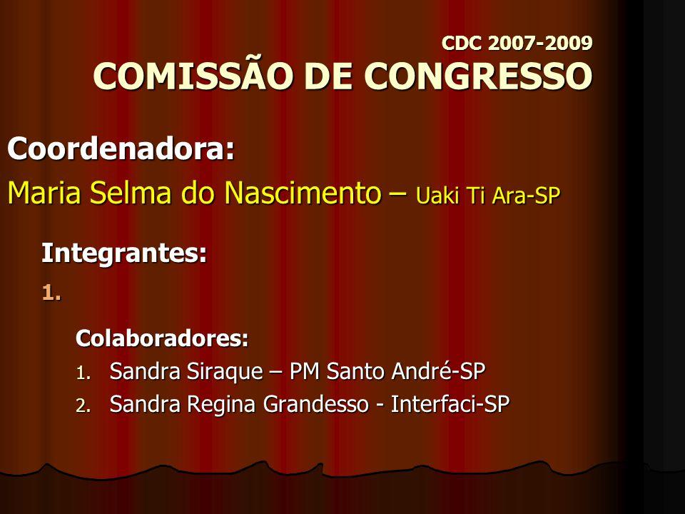 Comissões do CDC Gestão 2007-2009