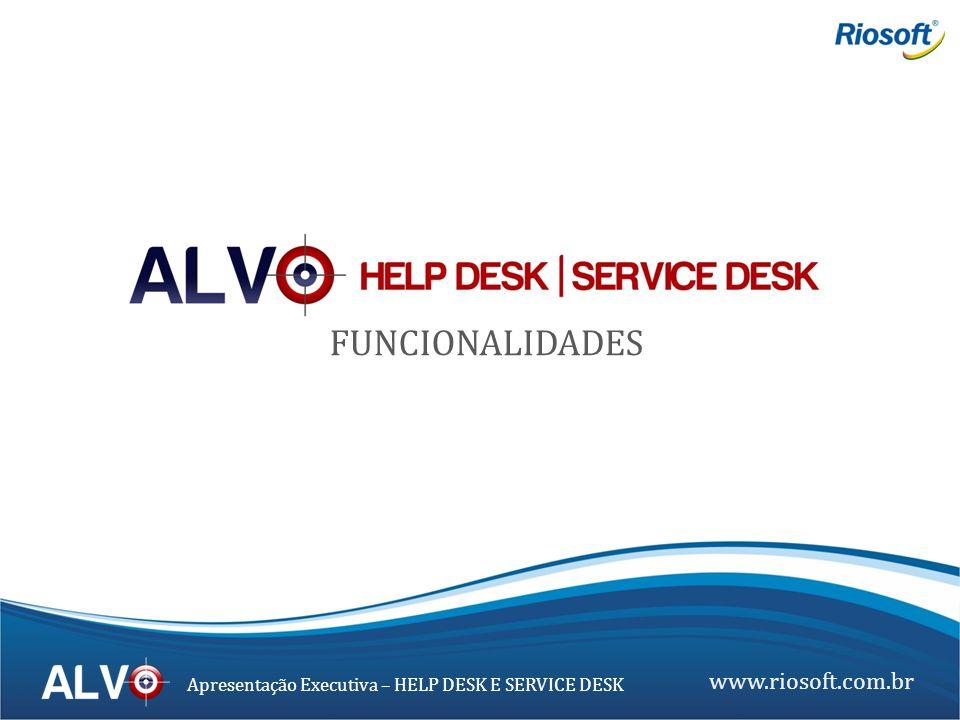 www.riosoft.com.br Apresentação Executiva – HELP DESK E SERVICE DESK Gerenciamento de Tickets Histórico de Tickets