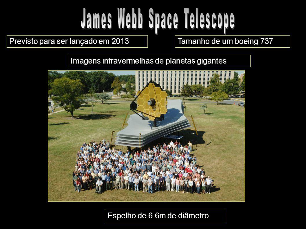 Previsto para ser lançado em 2013Tamanho de um boeing 737 Espelho de 6.6m de diâmetro Imagens infravermelhas de planetas gigantes
