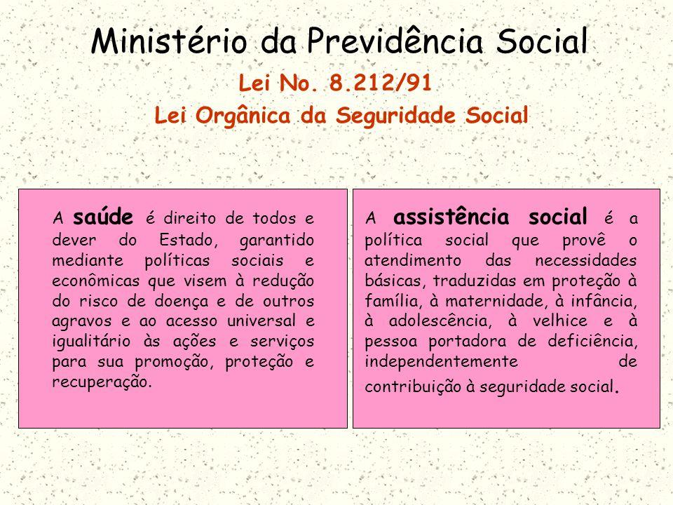 Ministério da Previdência Social Lei No.