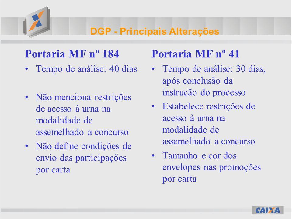 DGP–Principais Alterações–cont.