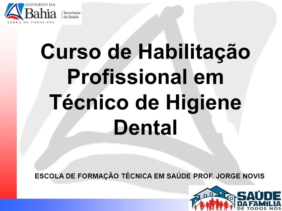 Curso de Habilitação Profissional em Técnico de Higiene Dental ESCOLA DE FORMAÇÃO TÉCNICA EM SAÚDE PROF.